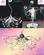 lampadario camera da letto soggiorno applique lume cristallo cromo moderno