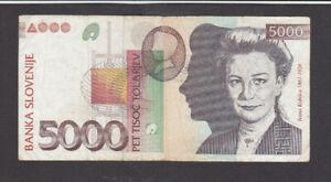 5000 TOLARJEV FINE BANKNOTE FROM SLOVENIA 1993 PICK-33