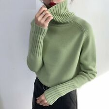 Sweater Women Knitted Cashmere Pullover Female Turtleneck Casual Soft Jumper 1pc