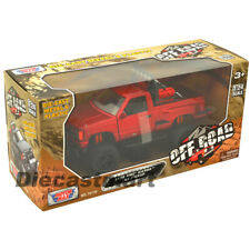 1992 GMC SIERRA GT PICKUP TRUCK OFF ROAD RED 1:24 BY MOTORMAX 79130