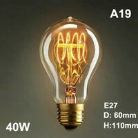 1 * E27 220V Retro Edison Filament LED Bulb Dimmable Flame Yellow Light Lamp