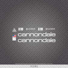 01030 Cannondale R700 Bicycle Stickers - Decals - Transfers - White