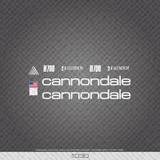 01030 Cannondale R700 Bicicletta Adesivi-Decalcomanie-Trasferimento-Bianco