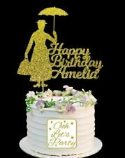 163. Mary Poppins Birthday Cake Topper, Choose Your Name, Cake Decoration
