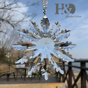 Crystal Clear Large Snowflake Holiday Ornament Christmas Tree Decor Edition 2021