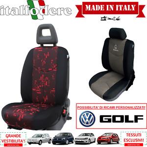 COPPIA COPRISEDILI Specifici Volkswagen GOLF Foderine ANTERIORI GOLF Rosso 35
