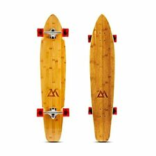 New listing 44 inch Kicktail Cruiser Longboard Skateboard | Bamboo and Hard Maple Deck Red