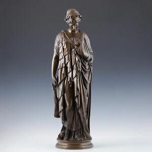 """""""Sappho"""" J. P. Clesinger Bronze Skulptur um 1860/80 F. Barbedienne Klassik Kunst"""