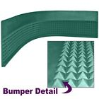 Craps Diamond Pyramid Bumper Rubber 4 Feet x 11 Inches High