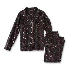 Ladies Pajama Set Hearts  Size Medium