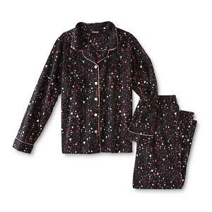 Ladies Pajama Set Hearts  Size Large