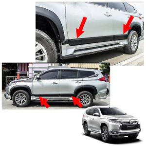 For Mitsubishi Montero Pajero Sport 16 - 2017 Body Cladding Side Molding Guard