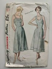 Vintage 1950s Simplicity 3352 Full Nylon Slip Sewing Pattern