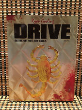 Drive (2-Disc Blu-ray/DVD, 2012)+OOP Embossed Scorpion Slipcover & 32 Page Book