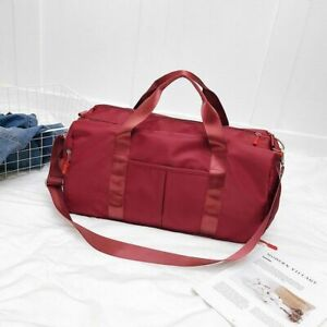 Outdoor Waterproof Nylon Sports Gym Bags Unisex Training Fitness Travel Handbag