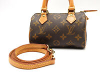 Auth LOUIS VUITTON Mini Speedy Monogram Hand Shoulder Bag Long Strap M41534 4854