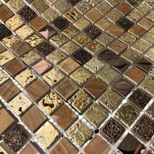 Italian Design Arctic Vintage Gold Mosaic Tiles Walls Floors Bathrooms Kitchens