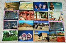 LOT OF 16 LARGE FORMAT INDIAN POSTCARDS 1970'S/80'S none postal used