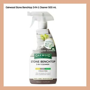 Oakwood Stone Benchtop 3 in 1 Cleaner 500 mL Cleans, shines and protects MDC