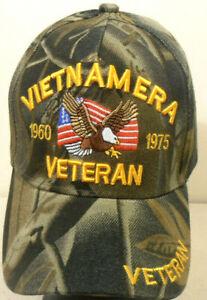 VIETNAM ERA VETERAN MILITARY CAP  CAMOUFLAGE HAT