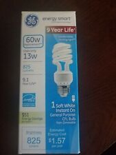 GE Lighting 42108 Energy Smart CFL Spiral Bulb, 13 Watts, 60w replacement