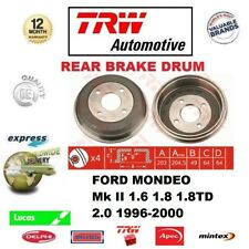 FOR FORD MONDEO Mk II 1.6 1.8 1.8TD 2.0 1996-2000 1x REAR BRAKE DRUM ONLY