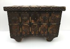 Indian Wooden Dowry Chest / Hope Chest / Trunk / Box