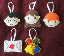HARRY POTTER Plush ORNAMENTS Set NEW