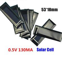 50PCS 0.5V 130mA Mini Solar Polycrystal Panel Cells DIY Solar Accessories