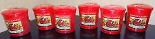 Yankee Candle Set of 6 Red Raspberry Votives New 1323190