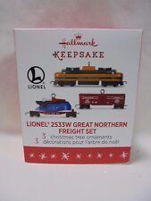 2016 Hallmark Miniature Ornament Lionel Train 2533W Great Northern Freight B28