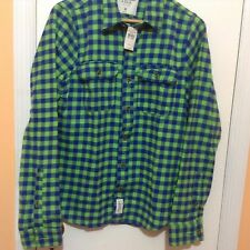Abercrombie & Fitch Men's New Button Front Casual Shirt Size-M