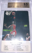 Sports Trading Cards 1988 Fournier Michael Jordan Spanish Estrellas Sticker Great Centering Stained
