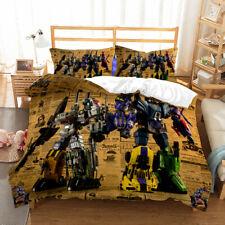3D Transformers Bedding Set Boys Duvet Cover Set Bumblebee and Optimus Prime