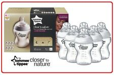 ❤ Tommee Tippee Closer to Nature 260ML Bottle 6 Pack Teats BPA Free Breast Feed