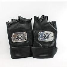 Naruto J-Anime Cosplay Kakashi Leaf Village Ninja PU Leather Gloves (Black) NEW