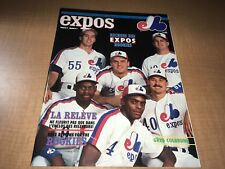 1990 Montreal Expos Baseball Program/Magazine Walker Deshields Grissom Cover