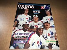1990 Montreal Expos Baseball Program/Magazine Walker Deshields Grissom Cover