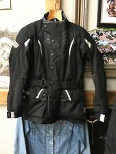 Really nice ladies Frank Thomas aqua textile Motorcycle Biker jacket. size small