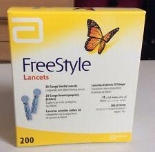 Abbott FREESTYLE lancette Lite 28 Gauge confezione da 200 ** Sigillato Nuovo di Zecca & **