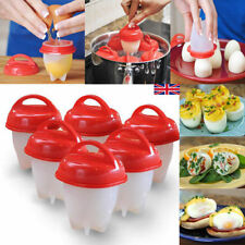 6Pcs alimentos grado Silicona Huevo Caldera duros egglettes Huevo Cocina Herramientas De Cocina
