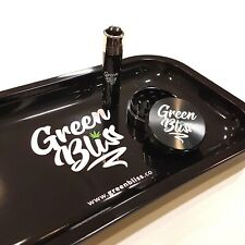 Rolling Tray Gift Set - Metal Herb Grinder, Clipper Lighter and Rolling Tray