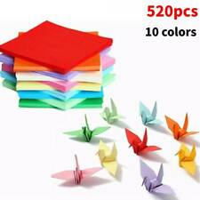 520PCS Sheets Origami Paper Double Sided Coloured Craft Square Assorted DIY