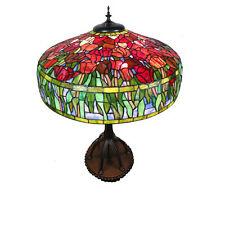 AMSTERDAM LG TIFFANY STYLE LEADLIGHT TABLE LAMP LIGHT - WILL SHIP AUSTRALIA WIDE