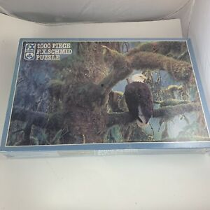 Majesty Beautiful Eagle In Moss Covered Tree 1000 Piece F.X. Schmid Puzzle