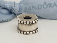 Authentic Pandora Silver Miligrain Edge Clip Charm -  790267