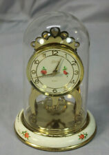 New ListingVintage Schatz 8 Day Anniversary Clock Made in Germany w/ Floral Base