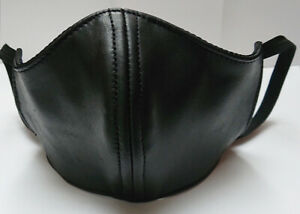 Brand New 100% Real Leather Deluxe half Mask, Lined  One Size