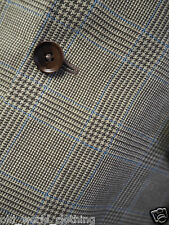 CHARLES TYRWHITT Beige / Blue POW Check Wool/Linen Blend Jacket M / UK 40 / Reg.