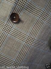 CHARLES TYRWHITT Beige / Blue POW Check Wool/Linen Blend Jacket M / UK 40 / Reg.
